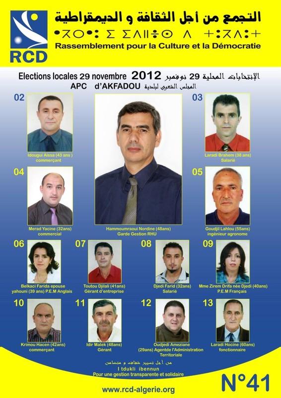 liste RCD Akfadou 29-11-2012