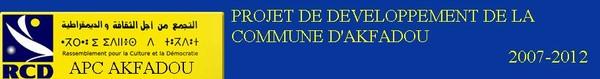 Projet de développement de la commune d'Akfadou 2007-2012